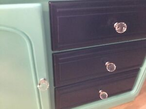 Teal& navy blue long dresser