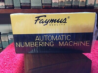 Faymus Automatic Numbering Machine.