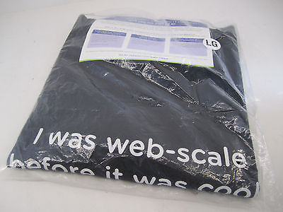 New Mens Large T Shirt Tee Shirt Nutanix   I Was Web Scale Before It Was Cool