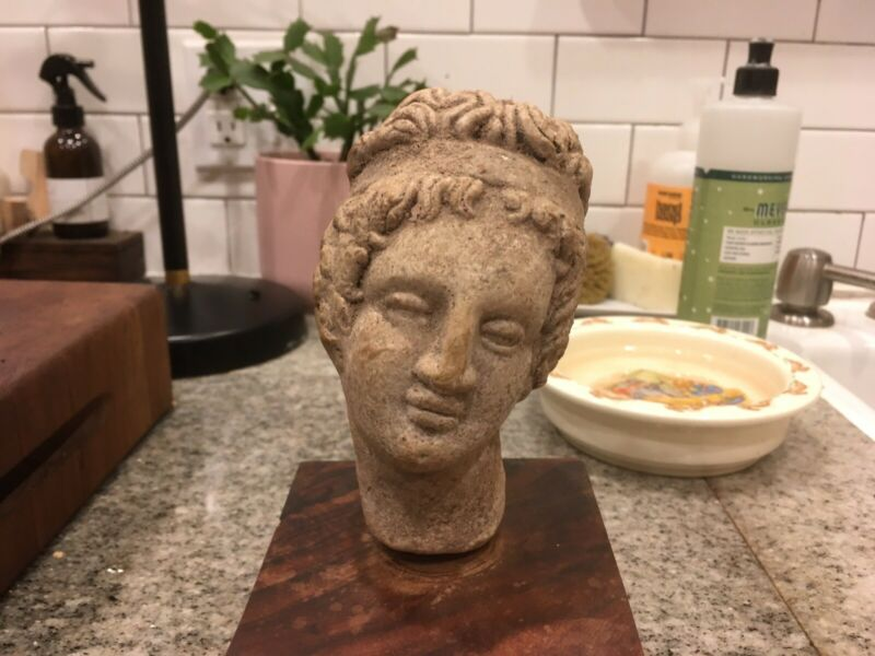 Ancient Greek, Hellenistic Terracotta Head of Godess
