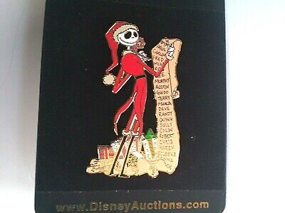 Disney Auction Pin Nightmare Before Christmas Jack as Santa Naughty & Nice List