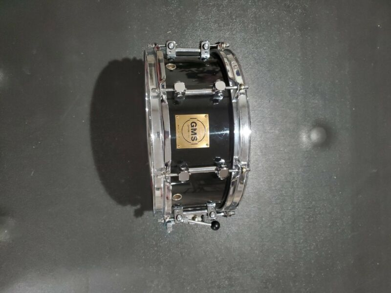 """GMS Drums 5""""X12"""" Maple Snare Drum. Born 7/1994. Black Lacquer Made In The USA."""