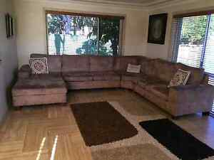 Brown corner couch Mount Lewis Bankstown Area Preview