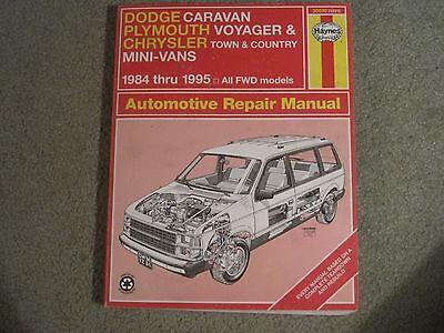 Haynes Dodge Caravan Plymouth Voyager Chrysler Town Country Mini-Vans 1984-1995  Country Plymouth Voyager Vans