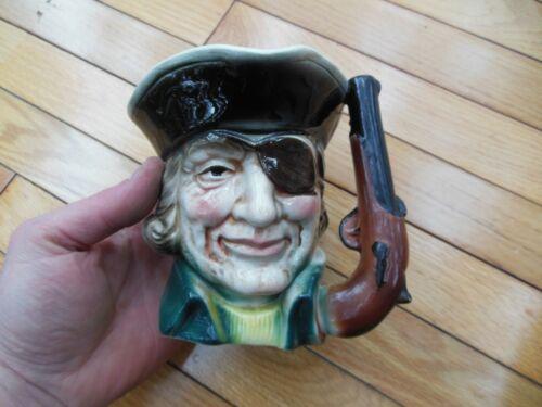 Vintage Made in Japan Pirate Toby Beer Mug Ceramic No Chips or Cracks!