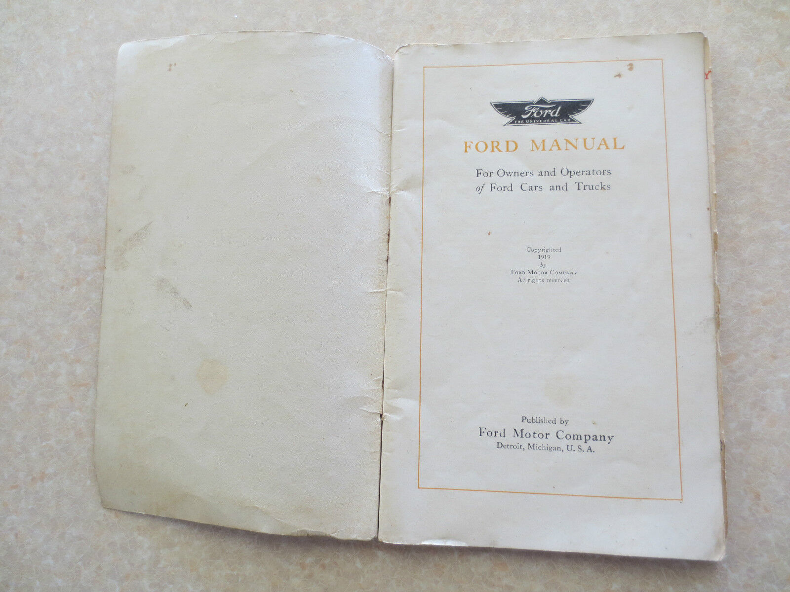 original 1919 model t ford owner s manual 252557054405 43 99 rh extensivefad top 1927 Model T 1914 Model T
