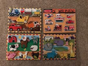 Various Melissa and Doug puzzles
