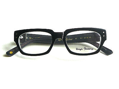 Clearance Sale 80% OFF !! Vinyl Factory Vicious C1 Black Eyeglasses Frames