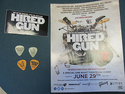 HIRED GUN  session musicians movie promo Poster 4 Guitar Pick Sticker not dvd