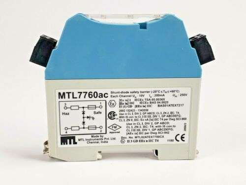 MTL MTL7760ac shunt diode safety barrier passive