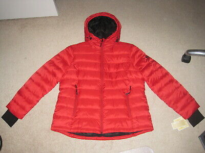 NWT Michael Kors Packable Hooded Quilted Puffer Jacket Coat, Scarlet, Sz XL