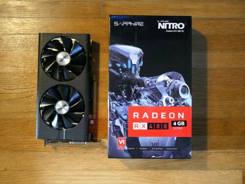SAPPHIRE Nitro+ AMD RX480 RX 480 4GB Graphics Card Radeon 580 *FAST SHIPPING*