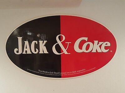 Jack (Daniels) & Coke (Coca Cola) Oval Cardboard Sign
