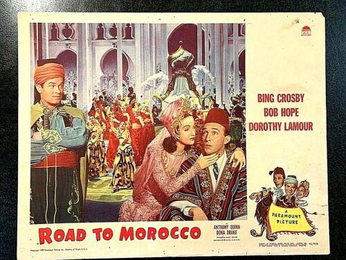 ROAD TO MOROCCO 1942 ORIGINAL LOBBY CARD - BING CROSBY, BOB HOPE, DOROTHY LAMOUR