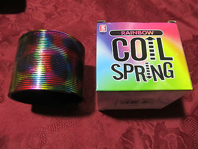 """Metallic Colored Plastic Magic Coil Spring Children's Toy 3"""""""