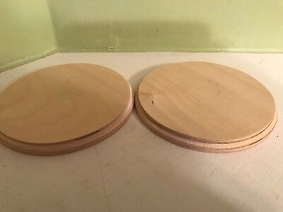 Round Wood Plaque (Lot of 2 Demis Products  unfinished wood 4.25
