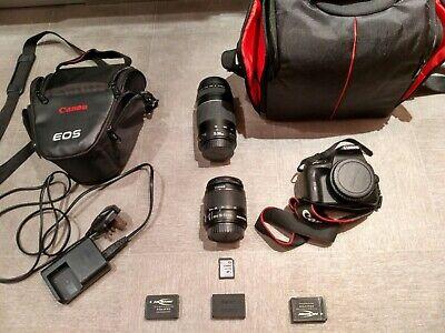 Canon EOS 100D DSLR Camera EF-S 18-55mm f/3.5-5.6 IS II And 75-300mm 1:4-5.6 III