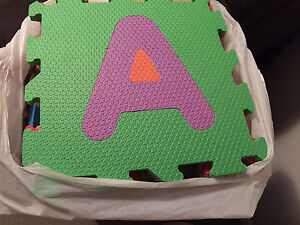 Quality Alphabet and Numbers Foam Mat with free small mats Werrington Penrith Area Preview
