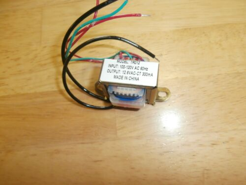 TR012 Philmore 120VAC/12.6V CT at 300ma Power Transformer 6.3V-0-6.3V,NEW