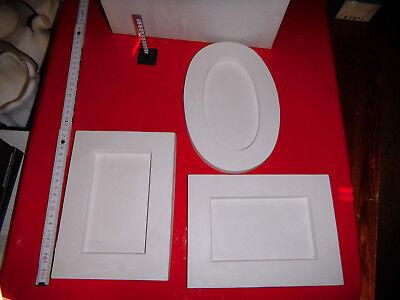 3 gr. Bilderrahmen zum selber gestalten, Serviettentechnik, 3-D-Technik (55)