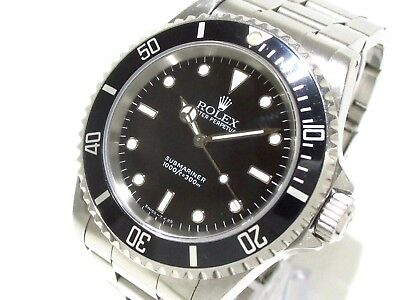 Auth ROLEX Submariner Non Date 14060 Silver Men