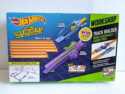HOT WHEELS Track Builder Workshop Kit - LAUNCH PACK - 2 Car Launchers +Track NEW
