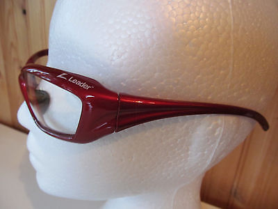 Z Leader sports glasses - Red - Mint condition - Cycling - Motorcycling