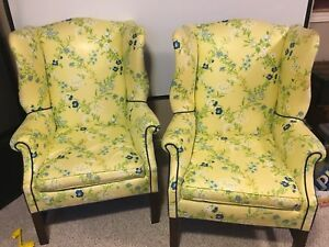 Chairs - 2 wingback chairs