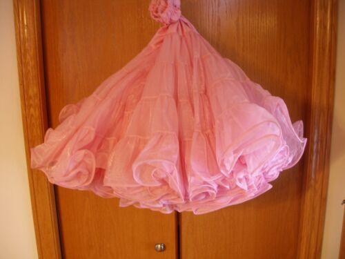 "Soft Pink  Malco Modes Petticoat Square Dance Costume Tiered ""L""  #501"