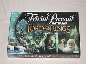 TRIVIAL PURSUIT - LORD OF THE RINGS TRILOGY EDITION - IN VGC (FREE UK P&P)