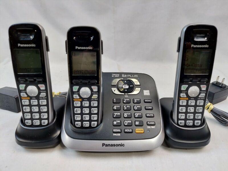 Panasonic Dect 6.0 Plus KX-TG6541 Cordless 3 Phone System EB-4161