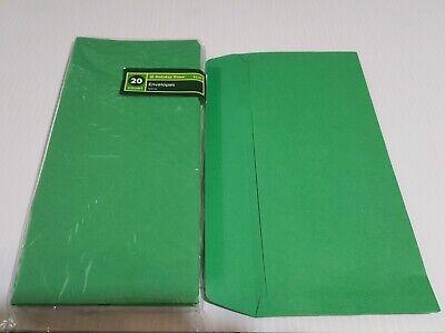 10 Square Flap Envelopes Flap 4 18 X 9 12 Green 20 Count