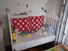 BABY TIMBER COT - WHITE Maryland Newcastle Area Preview