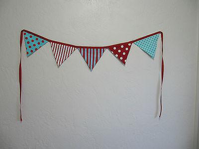 DR SEUSS BANNER  FLAGS PARTY BIRTHDAY NURSERY  FABRIC   9 FEET LONG TOTAL LENGTH