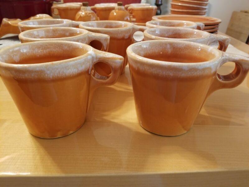 Vintage Hull Coffee Mug Cup rare Orange Tangerine Drip Oven Proof USA