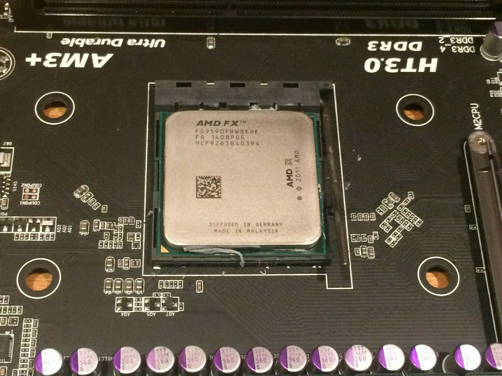 AMD FX 9590 W/ Gigabyte GA-990FXA-UD3 Motherboard Both Used Working  - $225.00