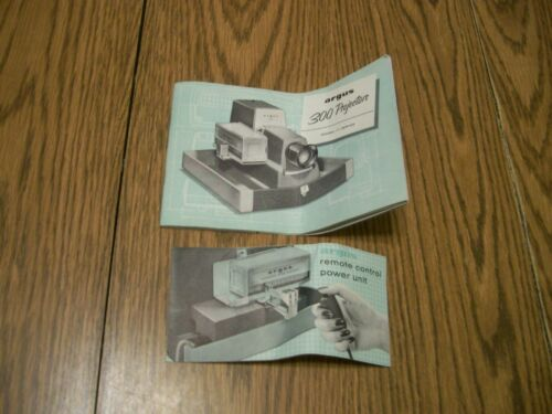 ARGUS 300 PROJECTOR MODEL 3 SERIES INSTRUCTION MANUAL & REMOTE CONTROL MANUAL