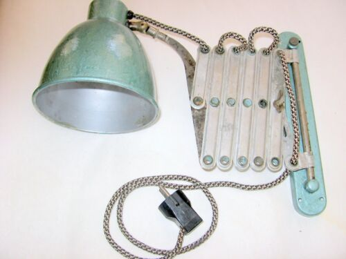 Vintage Industrial Machine Age Scissor Extension Wall Lamp - 1940