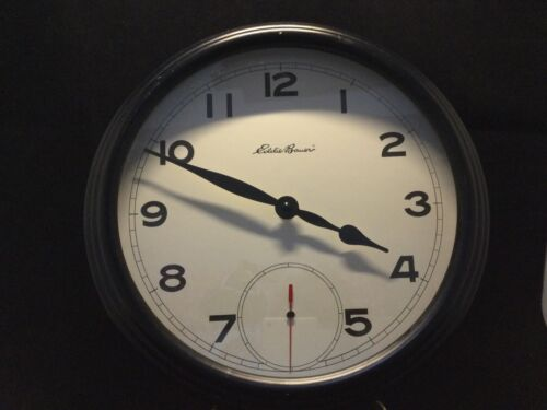 """EDDIE BAUER 12"""" Wall Clock with second hand"""