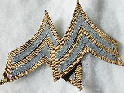 Infantry Corporal Chevrons for the 1902 Khaki Tunic -pair