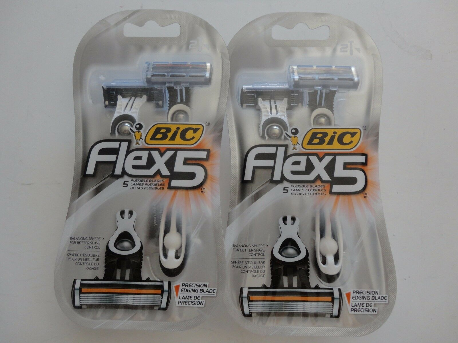 BiC Flex 5 Disposable Razors, 2 count