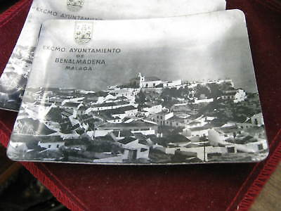 "1970s BENALMADENA Malaga Photo on Aluminum 4.5"" Pin Tray Pueblo Church, Old Seal"