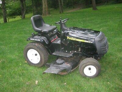 "18.5 HP Hydrostatic Riding Lawn Mower 46"" Garden Tractor,Works Good"