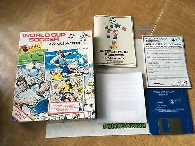World Cup soccer Italia 90 game Atari st 100% Complete Rare