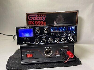 Galaxy DX-959B & 22 amp DPS22 AM SSB CB Radio DX959 PRO TUNE