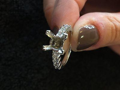 DIAMOND ENGAGEMENT RING MOUNT / SETTING .48 CARAT 14K WHITE GOLD