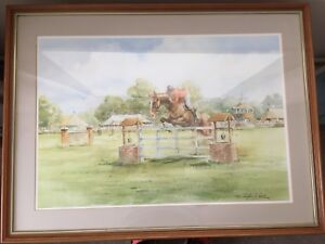 Large Douglas E. West Mounted and Framed Print - A Clean Jump