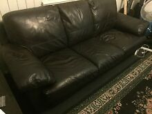 3 seater leather lounge Paddington Brisbane North West Preview