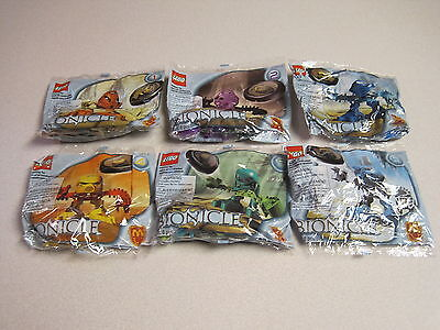 McDonalds 2001 Lego Bionicle - Complete Set of 6 - Mint in Package