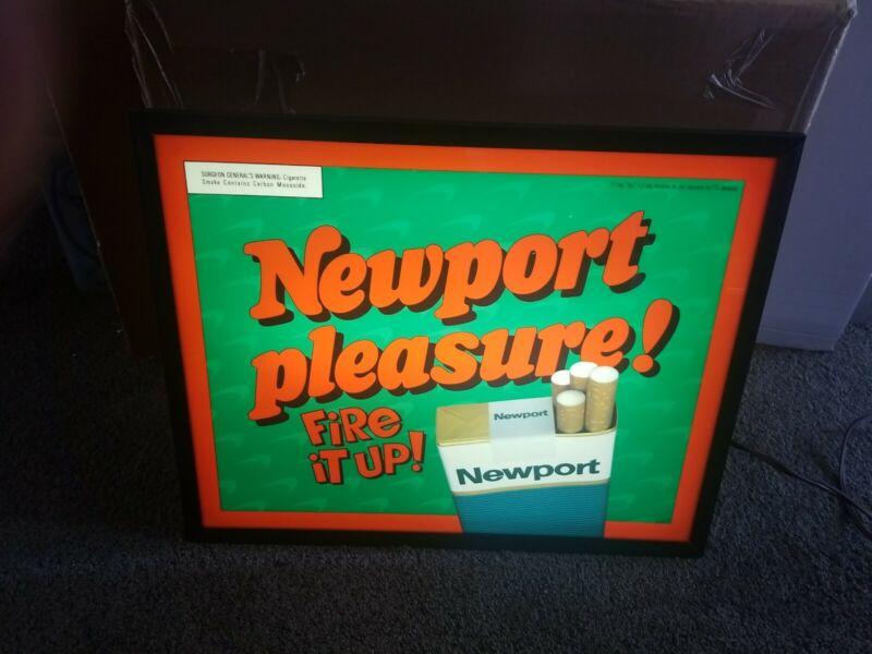 Newport Cigarettes smoking light up store advertising display bar sign new & box